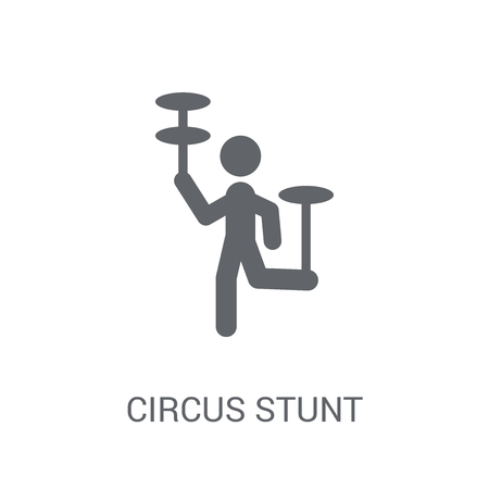 Circus stunt icon. Trendy Circus stunt logo concept on white background from Circus collection. Suitable for use on web apps, mobile apps and print media.
