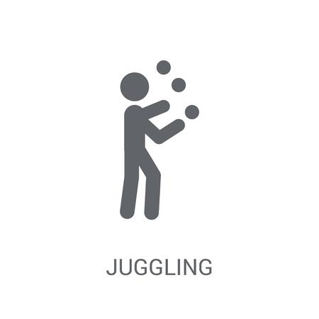 Icône de jonglerie. Concept de logo jonglerie tendance sur fond blanc de la collection Circus. Convient pour une utilisation sur des applications Web, des applications mobiles et des supports imprimés.