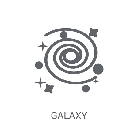 Galaxy icon. Trendy Galaxy logo concept on white background from Astronomy collection. Suitable for use on web apps, mobile apps and print media. Çizim