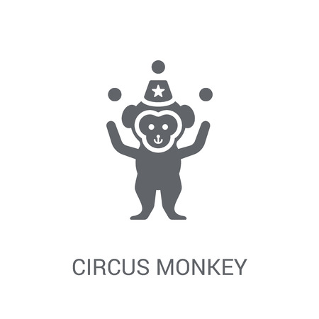 Circus Monkey icon. Trendy Circus Monkey logo concept on white background from Circus collection. Suitable for use on web apps, mobile apps and print media.