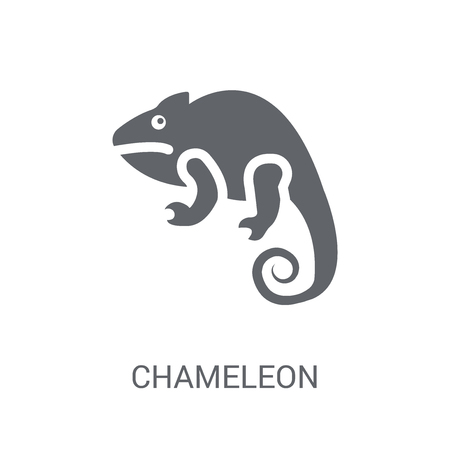Chameleon icon. Trendy Chameleon logo concept on white background from animals collection. Suitable for use on web apps, mobile apps and print media.