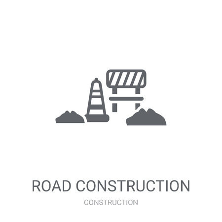road construction icon. Trendy road construction logo concept on white background from Construction collection. Suitable for use on web apps, mobile apps and print media.