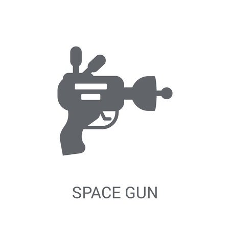 Space gun icon. Trendy Space gun logo concept on white background from Astronomy collection. Suitable for use on web apps, mobile apps and print media. Logo