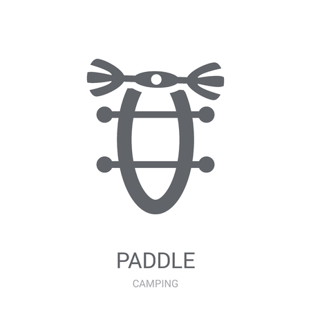 Paddle icon. Trendy Paddle logo concept on white background from camping collection. Suitable for use on web apps, mobile apps and print media.