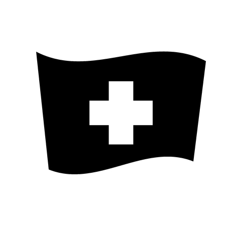 Switzerland flag icon. Trendy Switzerland flag logo concept on white background from Country Flags collection. Suitable for use on web apps, mobile apps and print media.