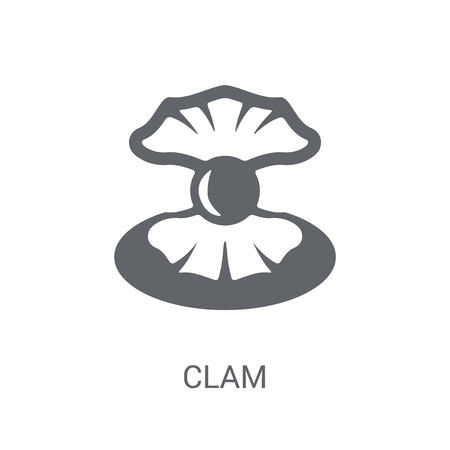 Clam icon. Trendy Clam logo concept on white background from animals collection. Suitable for use on web apps, mobile apps and print media.
