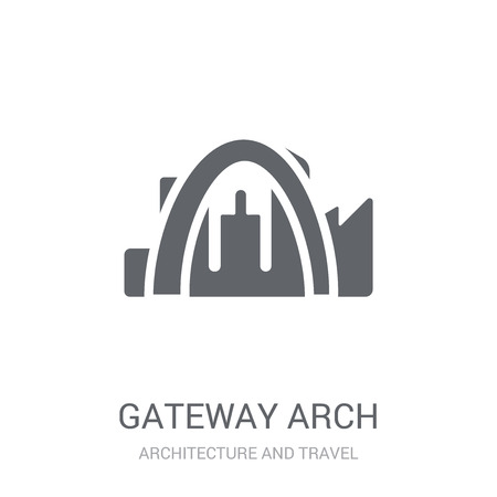 Gateway arch icon. Trendy Gateway arch logo concept on white background from Architecture and Travel collection. Suitable for use on web apps, mobile apps and print media.
