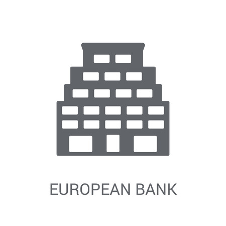 European Bank for Reconstruction and Development icon. Trendy European Bank for Reconstruction and Development logo concept on white background from business collection. Suitable for use on web apps, mobile apps and print media. 스톡 콘텐츠 - 111988899