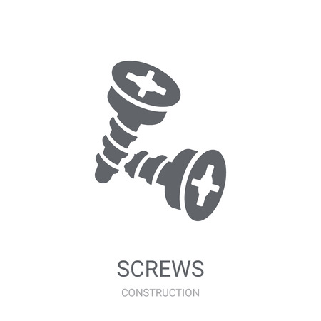 Screws icon. Trendy Screws logo concept on white background from Construction collection. Suitable for use on web apps, mobile apps and print media. Illustration