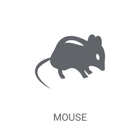 Mouse icon. Trendy Mouse logo concept on white background from animals collection. Suitable for use on web apps, mobile apps and print media. Stock Vector - 111988795