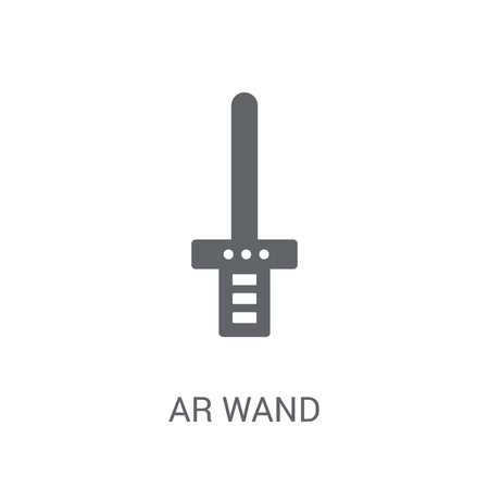 Ar wand icon. Trendy Ar wand logo concept on white background from Artificial Intelligence collection. Suitable for use on web apps, mobile apps and print media. Ilustração