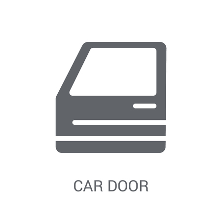 car door icon. Trendy car door logo concept on white background from car parts collection. Suitable for use on web apps, mobile apps and print media.