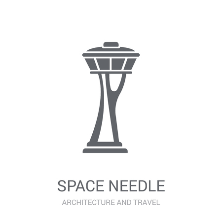 Space needle icon. Trendy Space needle logo concept on white background from Architecture and Travel collection. Suitable for use on web apps, mobile apps and print media.