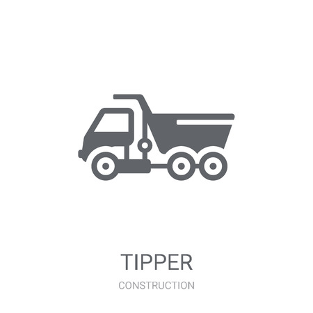 Tipper icon. Trendy Tipper logo concept on white background from Construction collection. Suitable for use on web apps, mobile apps and print media.