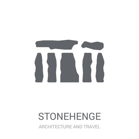 Stonehenge icon. Trendy Stonehenge logo concept on white background from Architecture and Travel collection. Suitable for use on web apps, mobile apps and print media.