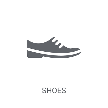 Shoes icon. Trendy Shoes logo concept on white background from Clothes collection. Suitable for use on web apps, mobile apps and print media.