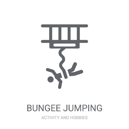 Bungee jumping icon. Trendy Bungee jumping logo concept on white background from Activity and Hobbies collection. Suitable for use on web apps, mobile apps and print media.