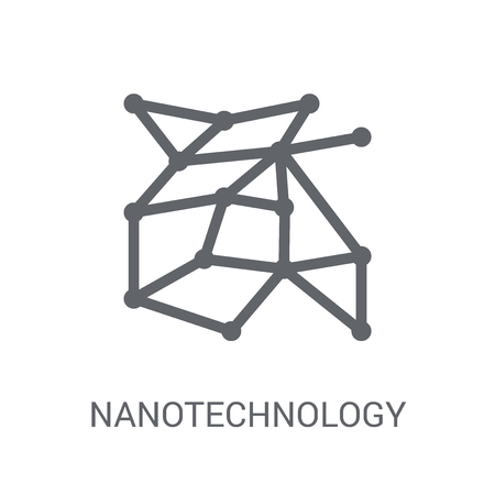 Nanotechnology icon. Trendy Nanotechnology logo concept on white background from Artificial Intelligence collection. Suitable for use on web apps, mobile apps and print media.