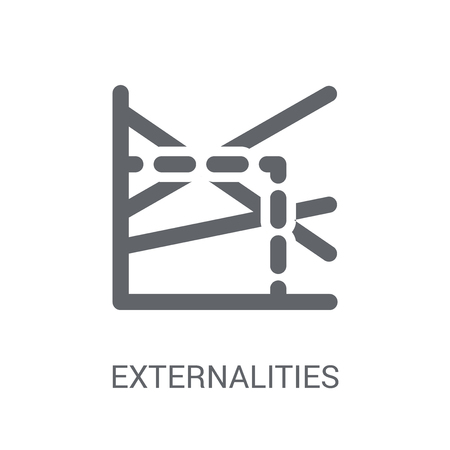 Externalities icon. Trendy Externalities logo concept on white background from business collection. Suitable for use on web apps, mobile apps and print media. Banco de Imagens - 111988634