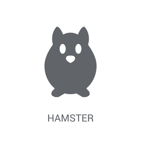 Hamster icon. Trendy Hamster logo concept on white background from animals collection. Suitable for use on web apps, mobile apps and print media.