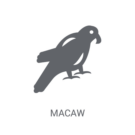Macaw icon. Trendy Macaw logo concept on white background from animals collection. Suitable for use on web apps, mobile apps and print media.