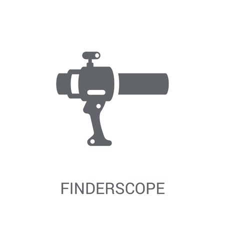 Finderscope icon. Trendy Finderscope logo concept on white background from Astronomy collection. Suitable for use on web apps, mobile apps and print media.