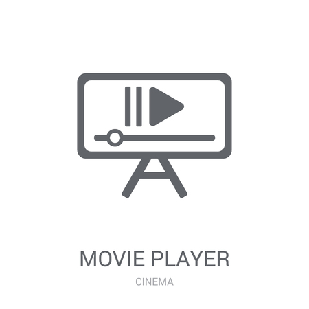 Movie player icon. Trendy Movie player logo concept on white background from Cinema collection. Suitable for use on web apps, mobile apps and print media.