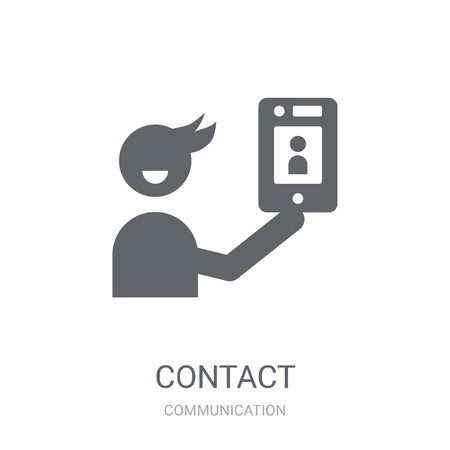 Contact icon. Trendy Contact logo concept on white background from Communication collection. Suitable for use on web apps, mobile apps and print media.