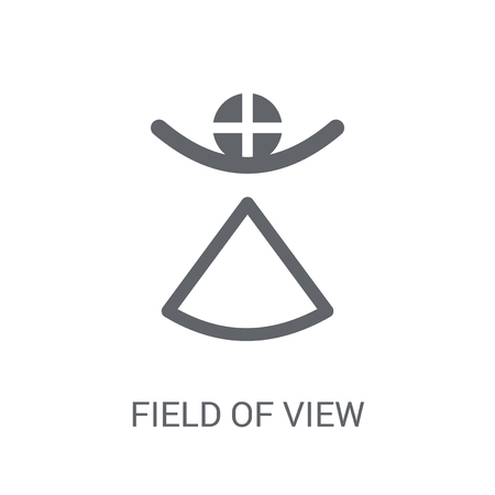 Field of view icon. Trendy Field of view logo concept on white background from Artificial Intelligence collection. Suitable for use on web apps, mobile apps and print media. Illustration