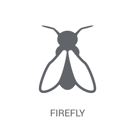 Firefly icon. Trendy Firefly logo concept on white background from animals collection. Suitable for use on web apps, mobile apps and print media. Illustration
