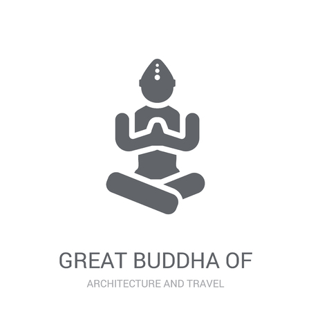 Great buddha of thailand icon. Trendy Great buddha of thailand logo concept on white background from Architecture and Travel collection. Suitable for use on web apps, mobile apps and print media.