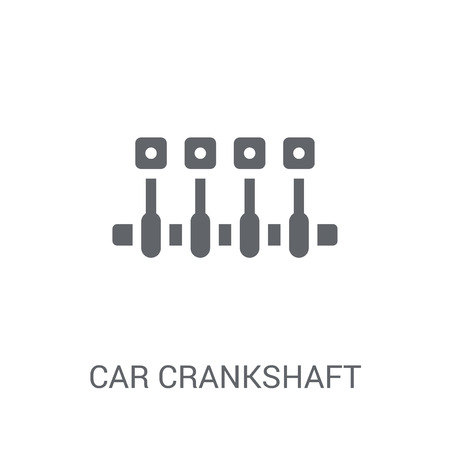 car crankshaft icon. Trendy car crankshaft logo concept on white background from car parts collection. Suitable for use on web apps, mobile apps and print media.