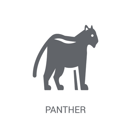 Panther icon. Trendy Panther logo concept on white background from animals collection. Suitable for use on web apps, mobile apps and print media.