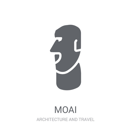 Moai icon. Trendy Moai logo concept on white background from Architecture and Travel collection. Suitable for use on web apps, mobile apps and print media.