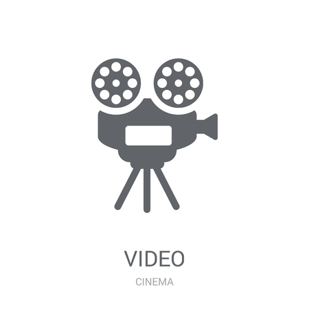 Video icon. Trendy Video logo concept on white background from Cinema collection. Suitable for use on web apps, mobile apps and print media.