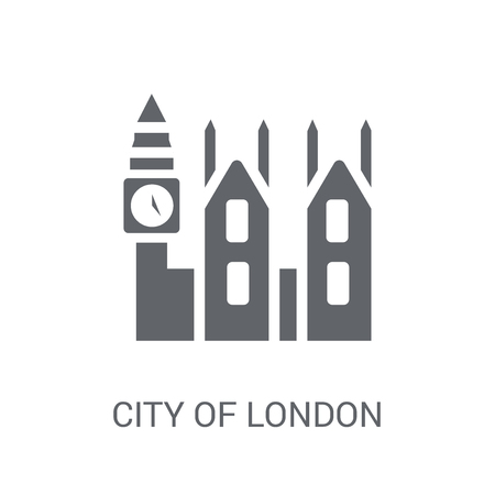 City of London icon. Trendy City of London logo concept on white background from business collection. Suitable for use on web apps, mobile apps and print media.
