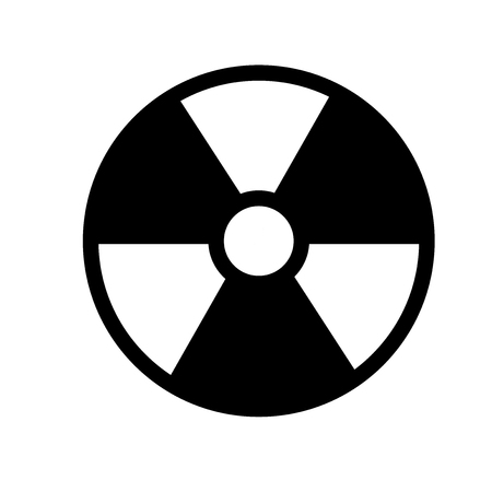 radiation icon. Trendy radiation logo concept on white background from army and war collection. Suitable for use on web apps, mobile apps and print media. Imagens - 111988337