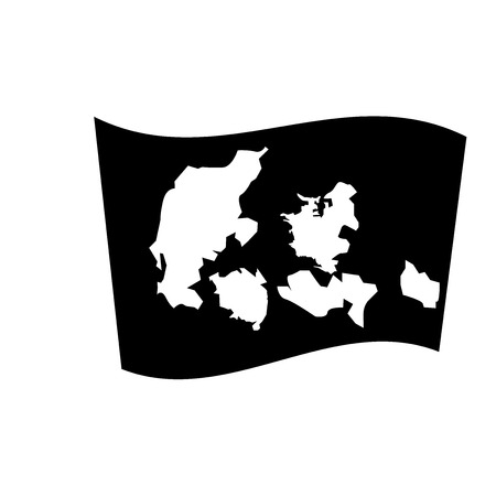 Denmark flag icon. Trendy Denmark flag logo concept on white background from Country Flags collection. Suitable for use on web apps, mobile apps and print media.