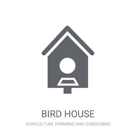 Icône de maison d'oiseau. Concept de logo maison oiseau tendance sur fond blanc de la collection Agriculture, élevage et jardinage. Convient pour une utilisation sur des applications Web, des applications mobiles et des supports imprimés.