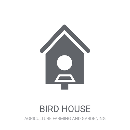 Bird house icon. Trendy Bird house logo concept on white background from Agriculture Farming and Gardening collection. Suitable for use on web apps, mobile apps and print media.