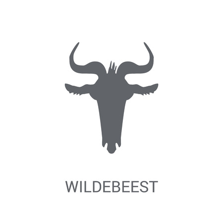 Wildebeest icon. Trendy Wildebeest logo concept on white background from animals collection. Suitable for use on web apps, mobile apps and print media.