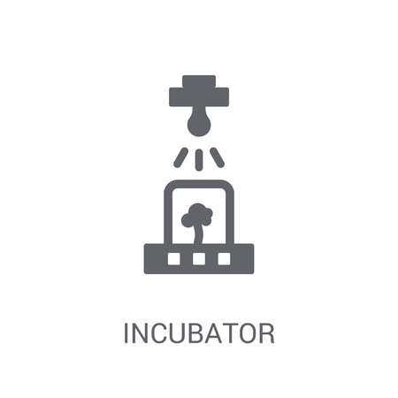 Incubator icon. Trendy Incubator logo concept on white background from Artificial Intelligence collection. Suitable for use on web apps, mobile apps and print media. Illustration