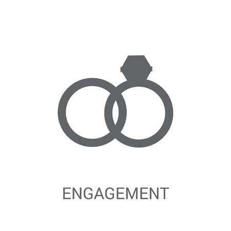Engagement icon. Trendy Engagement logo concept on white background from Birthday party and wedding collection. Suitable for use on web apps, mobile apps and print media. Banque d'images - 111988262