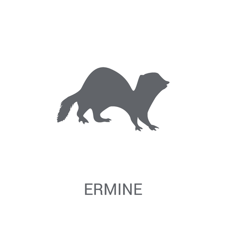 Ermine icon. Trendy Ermine logo concept on white background from animals collection. Suitable for use on web apps, mobile apps and print media.