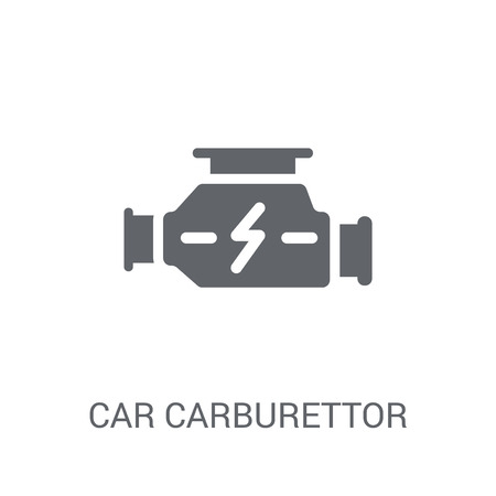 car carburettor icon. Trendy car carburettor logo concept on white background from car parts collection. Suitable for use on web apps, mobile apps and print media.