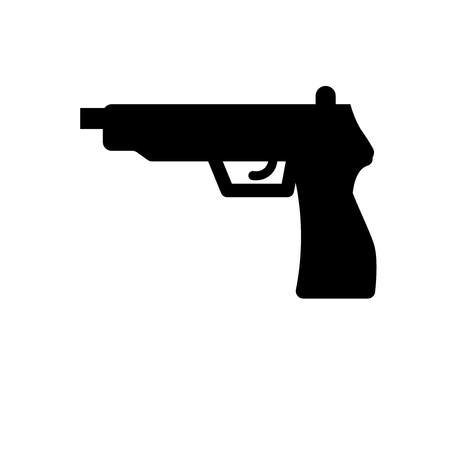 Pistol icon. Trendy Pistol logo concept on white background from army and war collection. Suitable for use on web apps, mobile apps and print media. Illustration