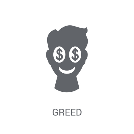 Greed icon. Trendy Greed logo concept on white background from Cryptocurrency economy and finance collection. Suitable for use on web apps, mobile apps and print media. Banque d'images - 111988180