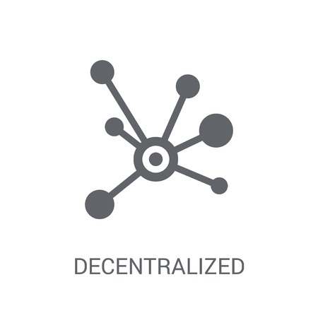 Decentralized icon. Trendy Decentralized logo concept on white background from Cryptocurrency economy and finance collection. Suitable for use on web apps, mobile apps and print media. 일러스트