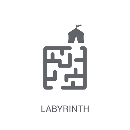 Labyrinth icon. Trendy Labyrinth logo concept on white background from Circus collection. Suitable for use on web apps, mobile apps and print media.