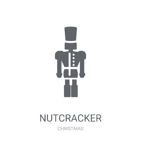Nutcracker icon. Trendy Nutcracker logo concept on white background from Christmas collection. Suitable for use on web apps, mobile apps and print media.